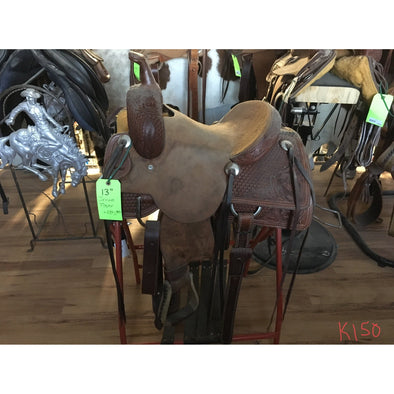 "Irvine 13"" Kids Rope Saddle"