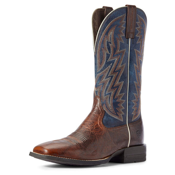 Ariat Men's Dynamic Western Boot Brown Patina/Blue Dusk