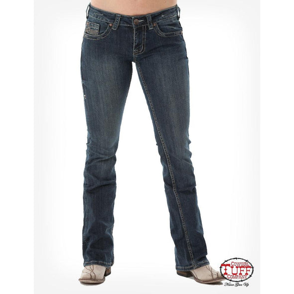Cowgirl Tuff Don't Fence Me In Dark Wash Jean