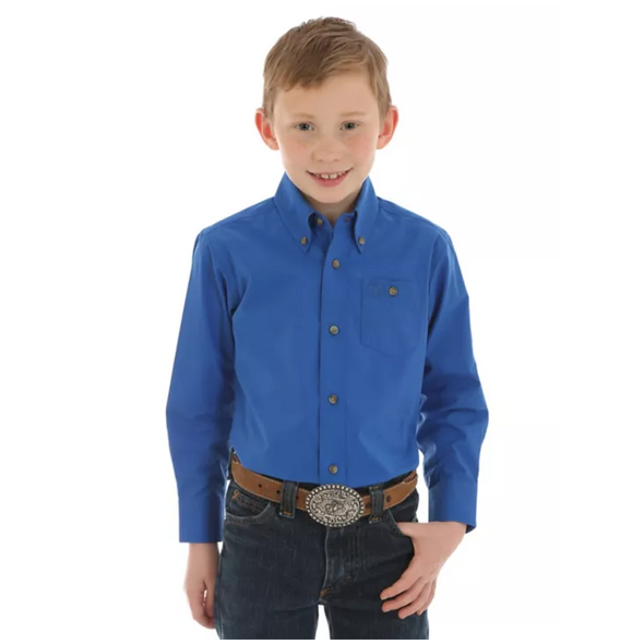 Wrangler Boy's Classic Long Sleeve Shirt