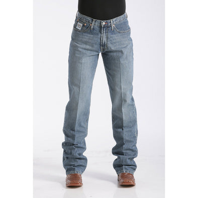 Cinch Men's Relaxed Fit White Label Jean - Medium Stonewash