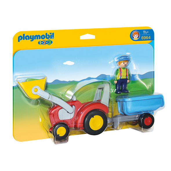 Playmobil Tractor with Trailer
