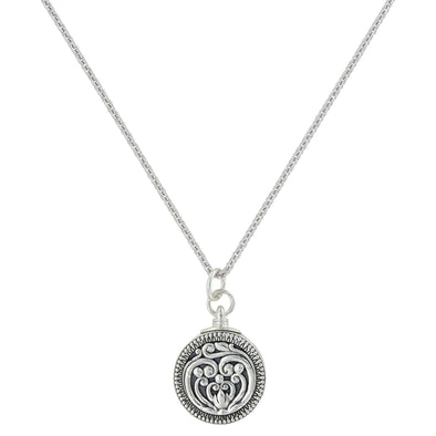 Montana Silversmiths Heart's Flame Legacy Locket Necklace