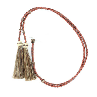 Stampede String Braided Leather and Horse Hair, Tan