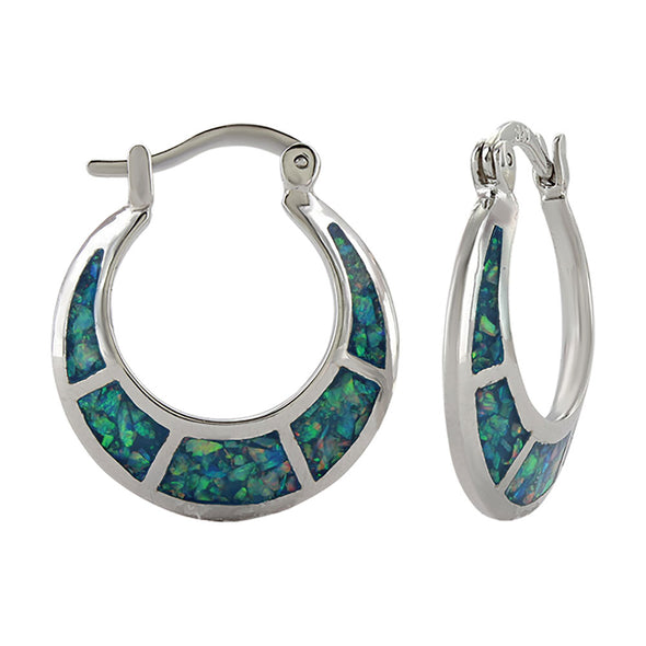 Montana Silversmiths Crescent Opal Hoop Earrings