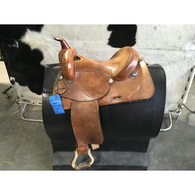 "Used 14 1/2"" Western Rawhide Trail Saddle"
