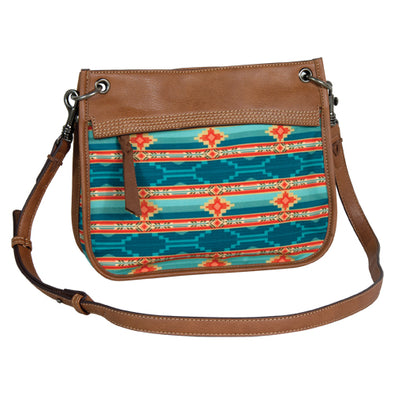 Justin Shoulder Bag Aztec Turquoise