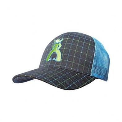 """Grid"" Punchy Navy/Blue Mesh Back Trucker Hat"