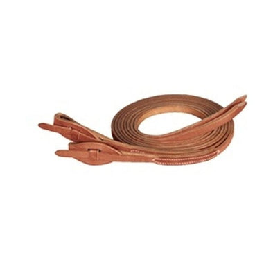 "Weaver Leather ProTack® Quick Change Split Reins Leather Tab Bit Ends 5/8"" x 8' - Russet"