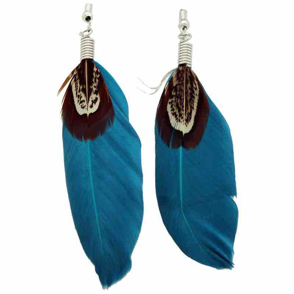 KC Earrings Feather Assort Colors