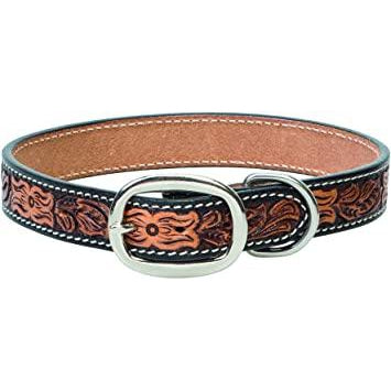 Weaver Leather Floral Dog Collar 3/4""