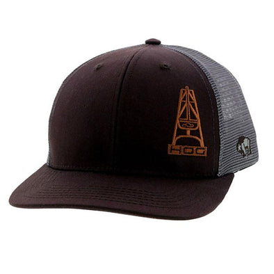 """Hog"" Brown/Grey 6 Panel Cap"