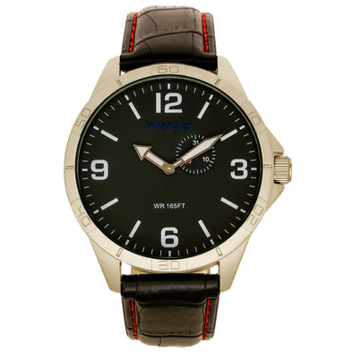 Wrangler 48 MM Black Strap Watch