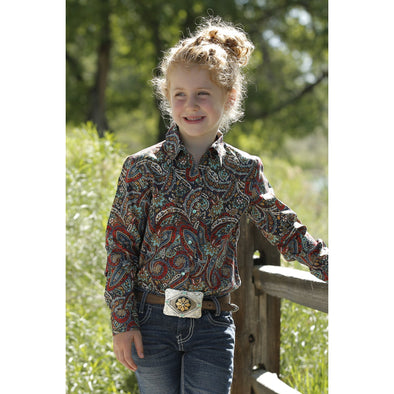 Cruel Girl Girls LS Paisley Shirt