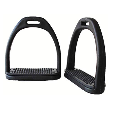 4.75 Sliverline Premium Stirrups w/Black Rubber Pads