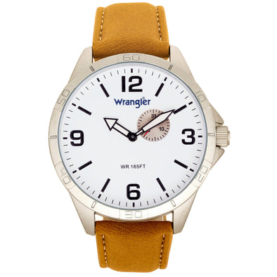 Wrangler 48 MM Tan Strap Watch