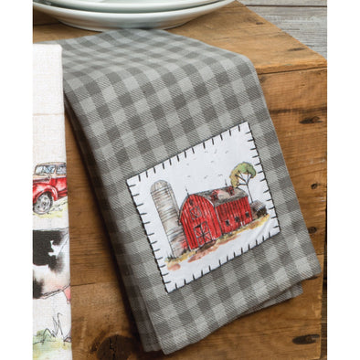KD Country Life Applique Tea Towel