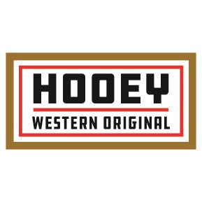 "Hooey Western Original Tan/Red 4"" by 2"" Rectangle Sticker"