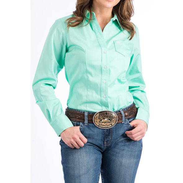 Cinch Women's Classic Fit Cotton Shirt - Mint