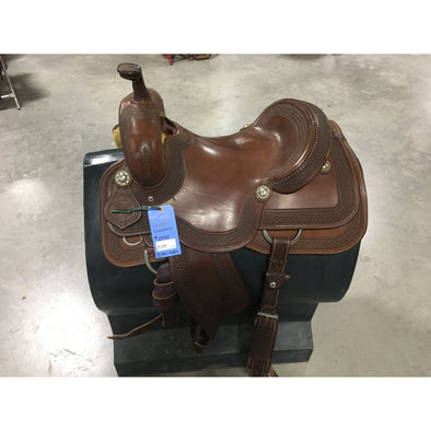 "Irvine 16"" Custom Cowhorse Saddle"