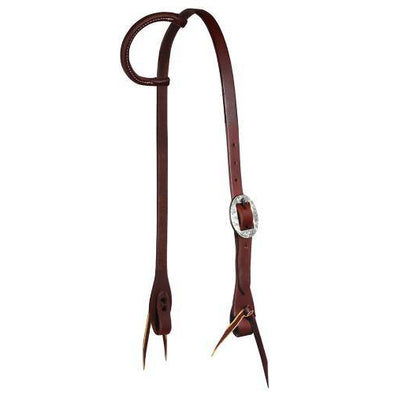 "Professional's Choice RH Headstall Single Ear 3/4"" Silver"
