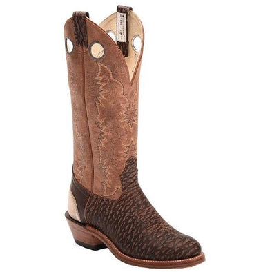 Brahma Men's Western Boot - Jersey Chocolate/Beirut Roble - Irvines Saddles