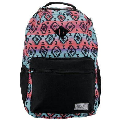 """Recess"" Hooey Backpack Grey Pink/Turquoise"