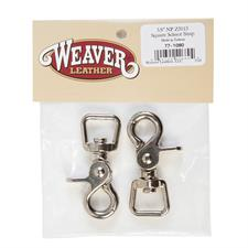 Weaver Bagged Z5015 Square Scissor Snaps, Nickel Plated, 5/8""