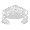 Montana Silversmith Courage & Strength Feather Cut-out Cuff Bracelet