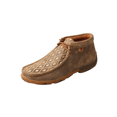 Twisted X Women's Driving MOc - High Ankle, Bomber/Tan