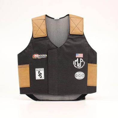 Big Time Rodeo Youth Bull Rider Vest Black