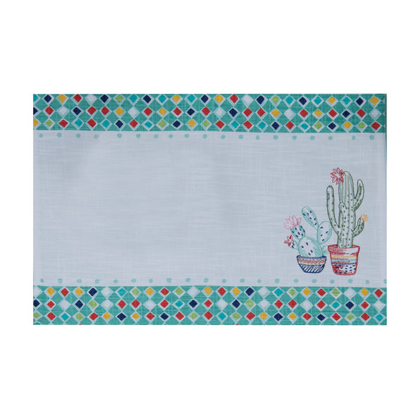 KD Cactus Garden Embroidered Placemat