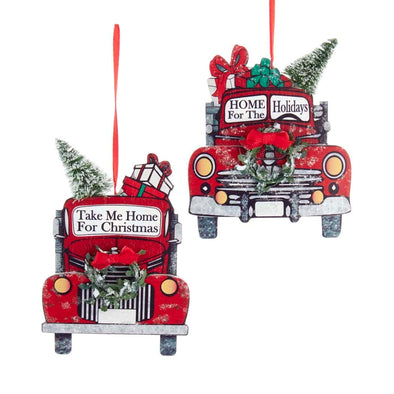 "5.5"" WDN Red Truck w/Grn Wreath"