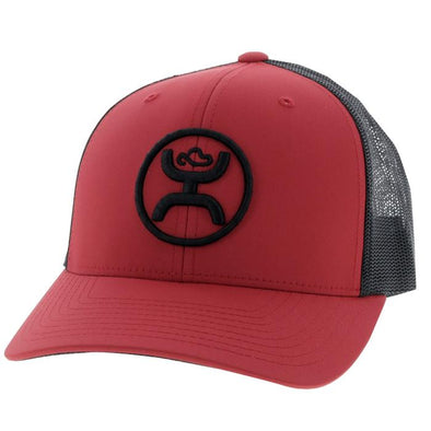 """O Classic"" Hooey Red/Black 6 Panel Trucker w/Black Logo"