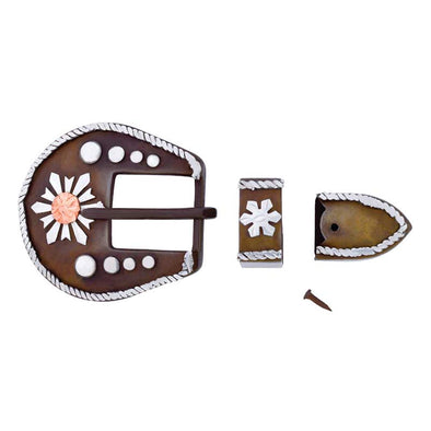 "5/8"" Antique Snow Flake Buckle Set"