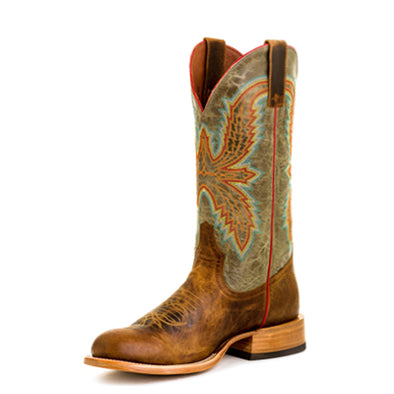 Horse Power Men's Western Boot - Saddle Mad Dog/Sky Blue Vail - Irvines Saddles