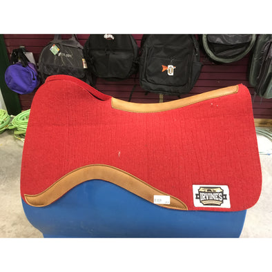 "Front Open Reiner Contoured 1"" Wool Felt Pad w/Wear Leather"