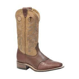 Boulet Men's Cowboy Boot - Grizzly Sand & Deerlite Butterscotch/Bullhide Cognac - Irvines Saddles
