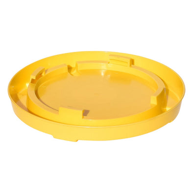 TuffStuff Enclosed Poultry Drinker Gallon Base  Yellow