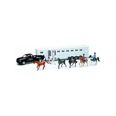 Black Pick Up Fifth Wheel Horse Trailer Set