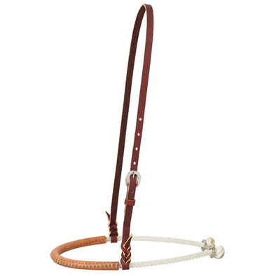 Weaver Leather Covered Single Rope Noseband - Russet