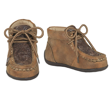 Double Barrel Youth Jed Casual Shoe with Brown Embossed Center