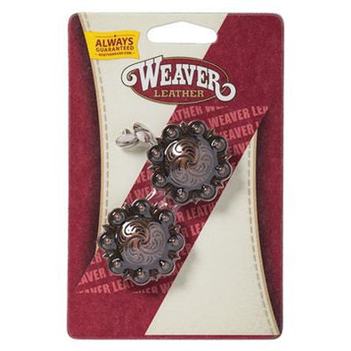 "Weaver 1"" Antique Silver Berry Concho"
