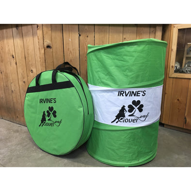 Irvine Pop-Up Barrels w/Clover Leaf Logo