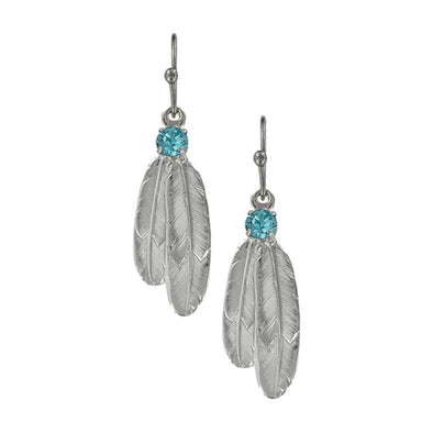 Montana Silversmiths A Gift of Freedom Feather Earrings