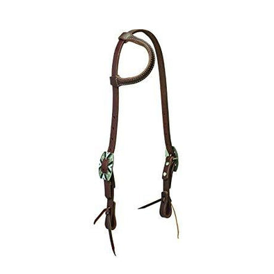 Weaver Leather Working Tack Southwest Rope Edge Sliding Ear Headstall