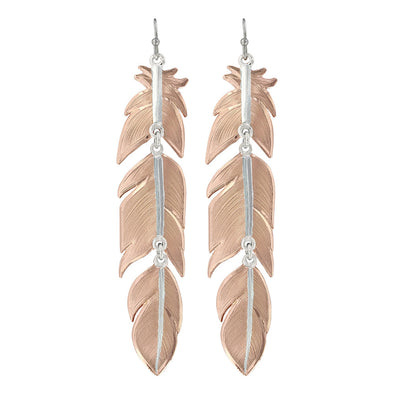 Montana Silversmiths Sunlit Plume Feather Earrings