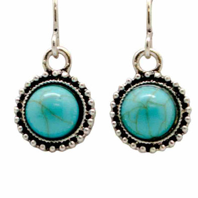 KC Earrings Turquoise Drop