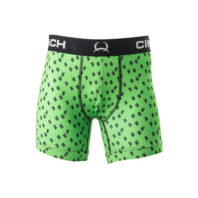 "Cinch Men's Boxer Brief 6""- Lime Cactus"