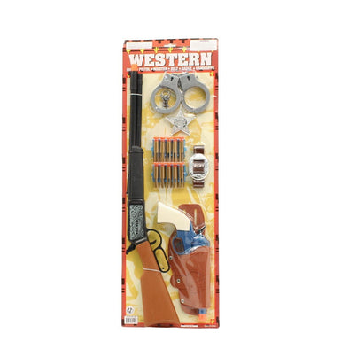 Western Rifle Sheriff Set with Darts Brown